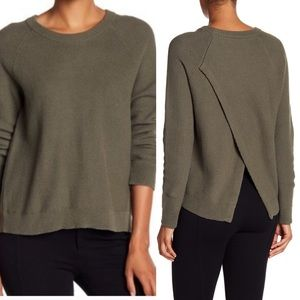 Madewell Province Knit Cross Back Pullover